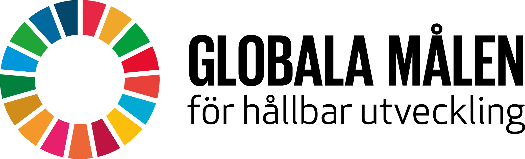 Bild på logotypen för de 17 globala målen