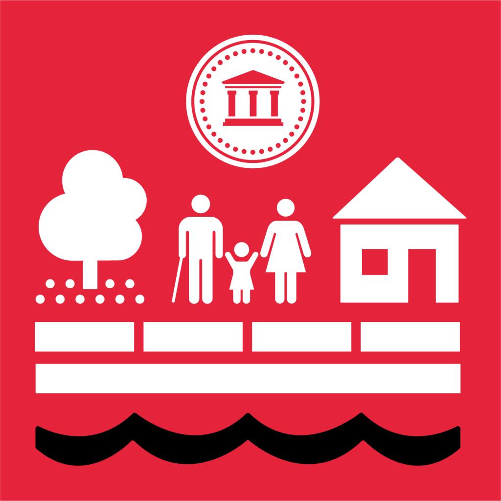 Ikon för delmål 1.5: Bygg motståndskraft mot ekonomiska, sociala och miljökatastrofer