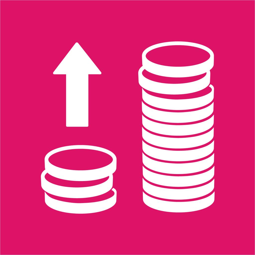 Ikon för delmål 10.1: Minska inkomstklyftorna