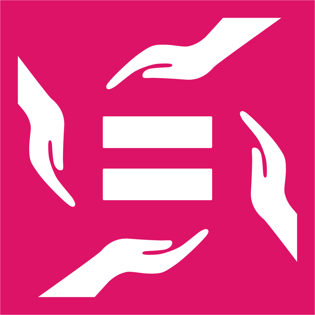 Ikon för delmål 10.3: Säkerställ lika rättigheter för alla och utrota diskriminering