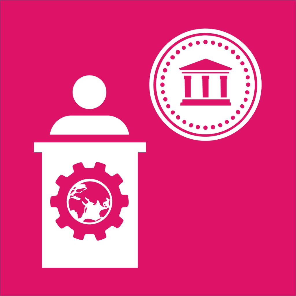Ikon för delmål 10.6: Stärk utvecklingsländers representation i finansiella institutioner