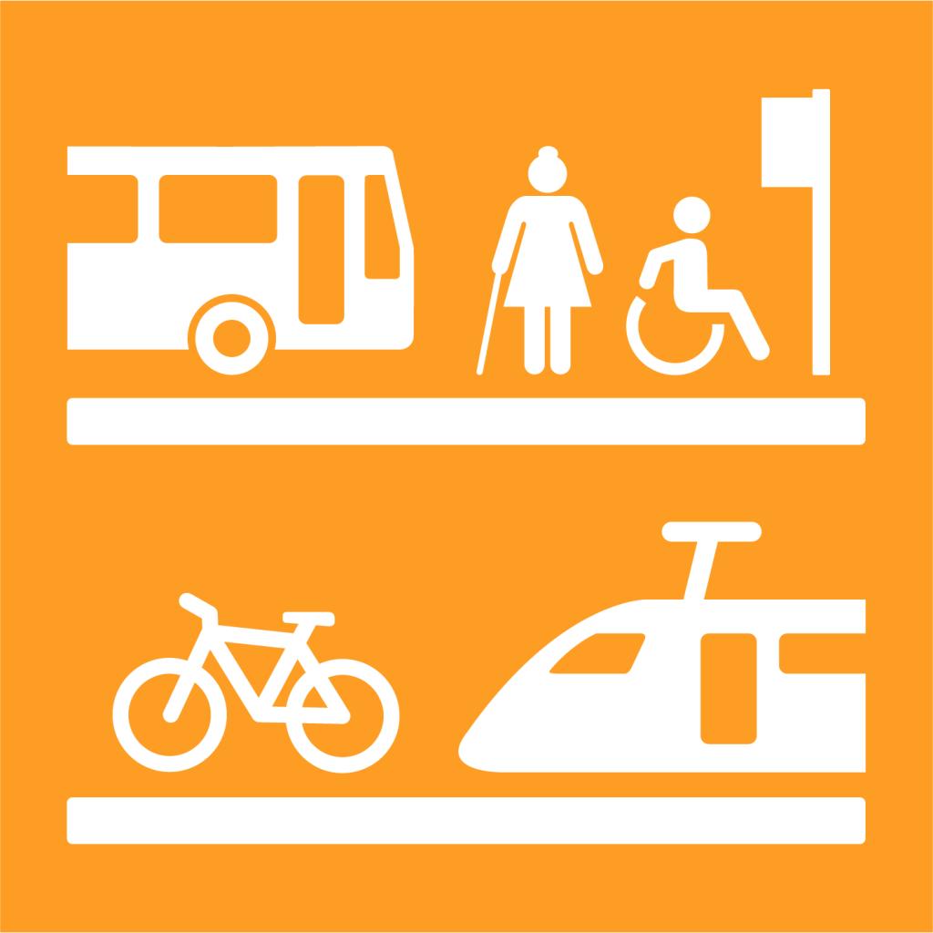 Ikon för delmål 11.2: Tillgängliggör hållbara transportsystem för alla