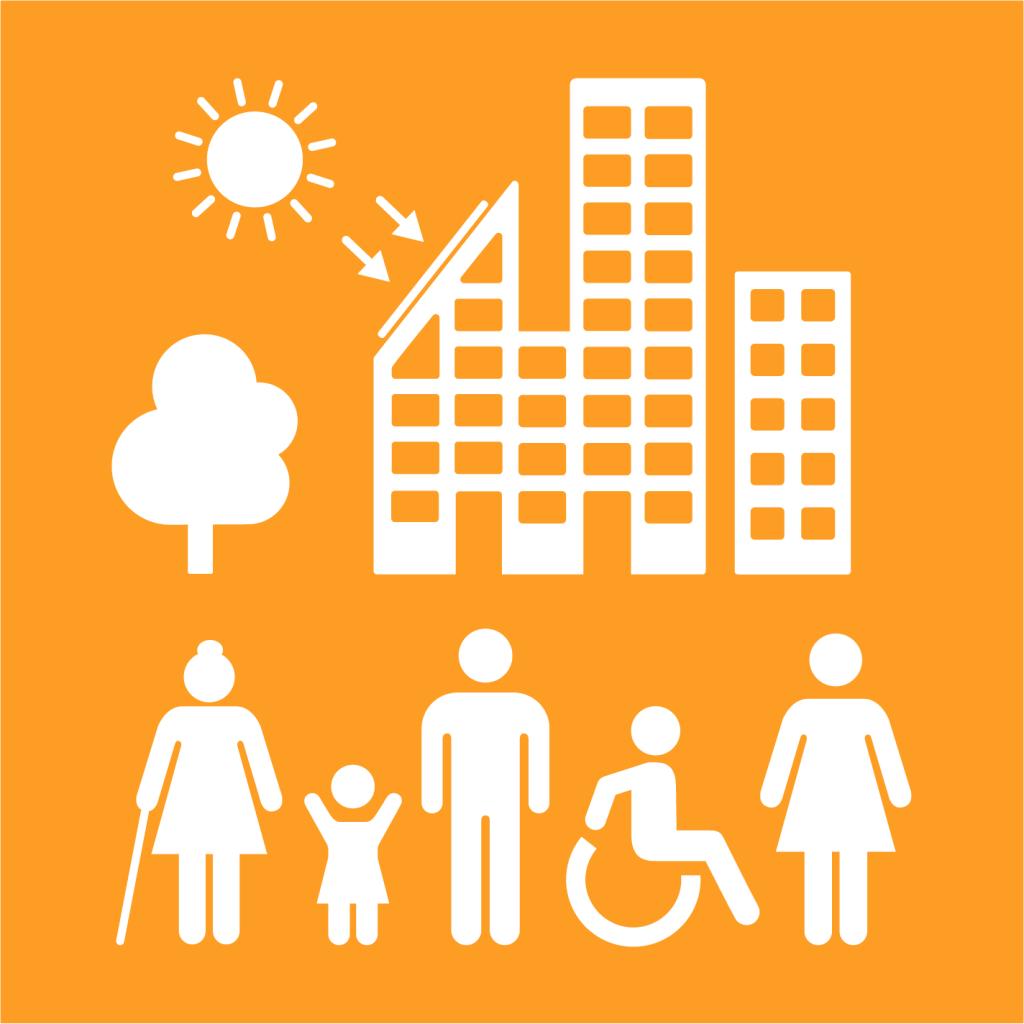 Ikon för delmål 11.3: Inkluderande och hållbar urbanisering
