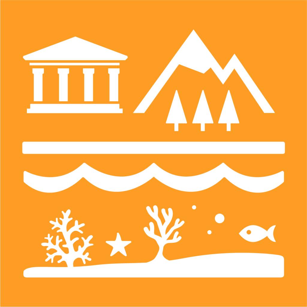Ikon för delmål 11.4: Skydda världens kultur- och naturarv