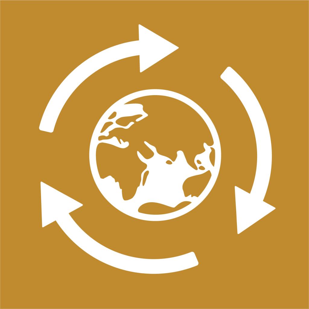 Ikon för delmål 12.2: Hållbar förvaltning och användning av naturresurser