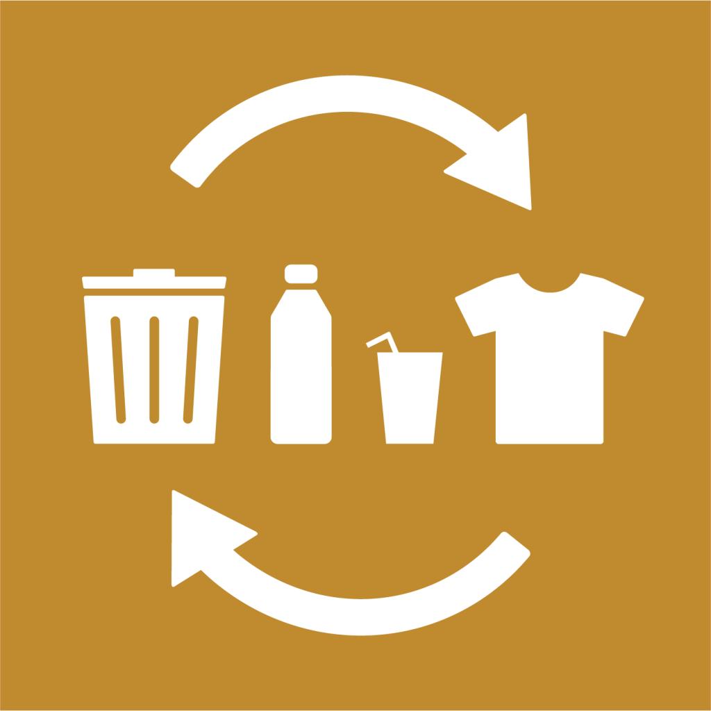 Ikon för delmål 12.5: Minska mängden avfall markant