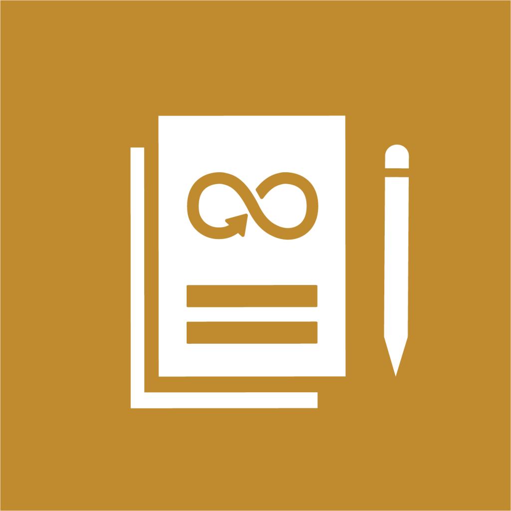 Ikon för delmål 12.6: Uppmuntra företag att tillämpa hållbara metoder och hållbarhetsredovisning