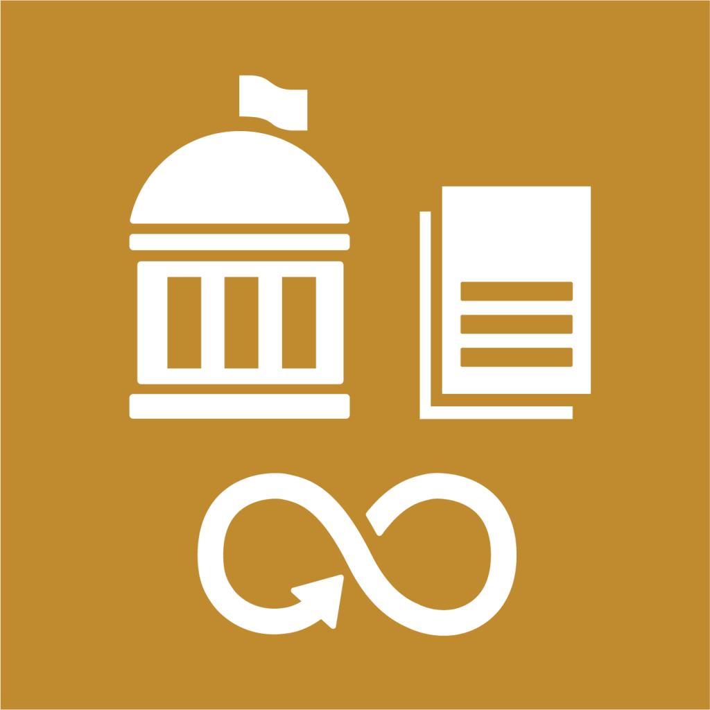Ikon för delmål 12.7: Främja hållbara metoder för offentlig upphandling
