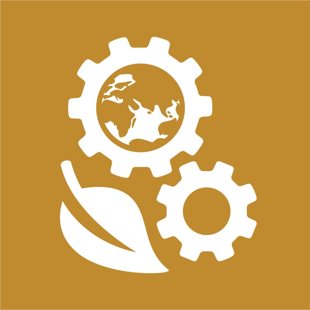 Ikon för delmål 12.A: Stärk utvecklingsländers vetenskapliga och tekniska kapacitet för hållbar konsumtion och produktion