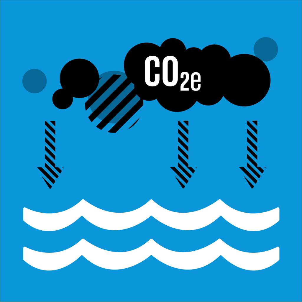 Ikon för delmål 14.3: Minska havsförsurningen