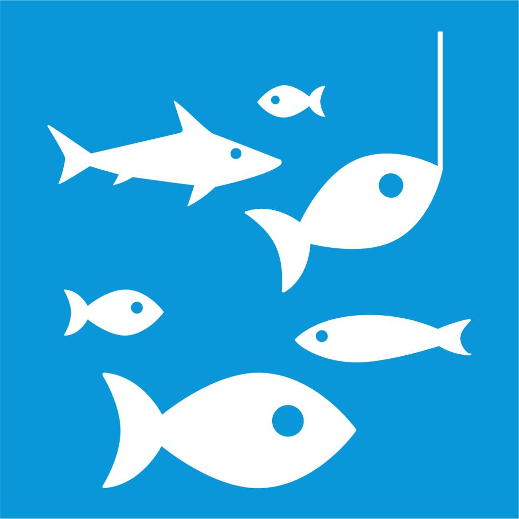 Ikon för delmål 14.4: Främja hållbart fiske