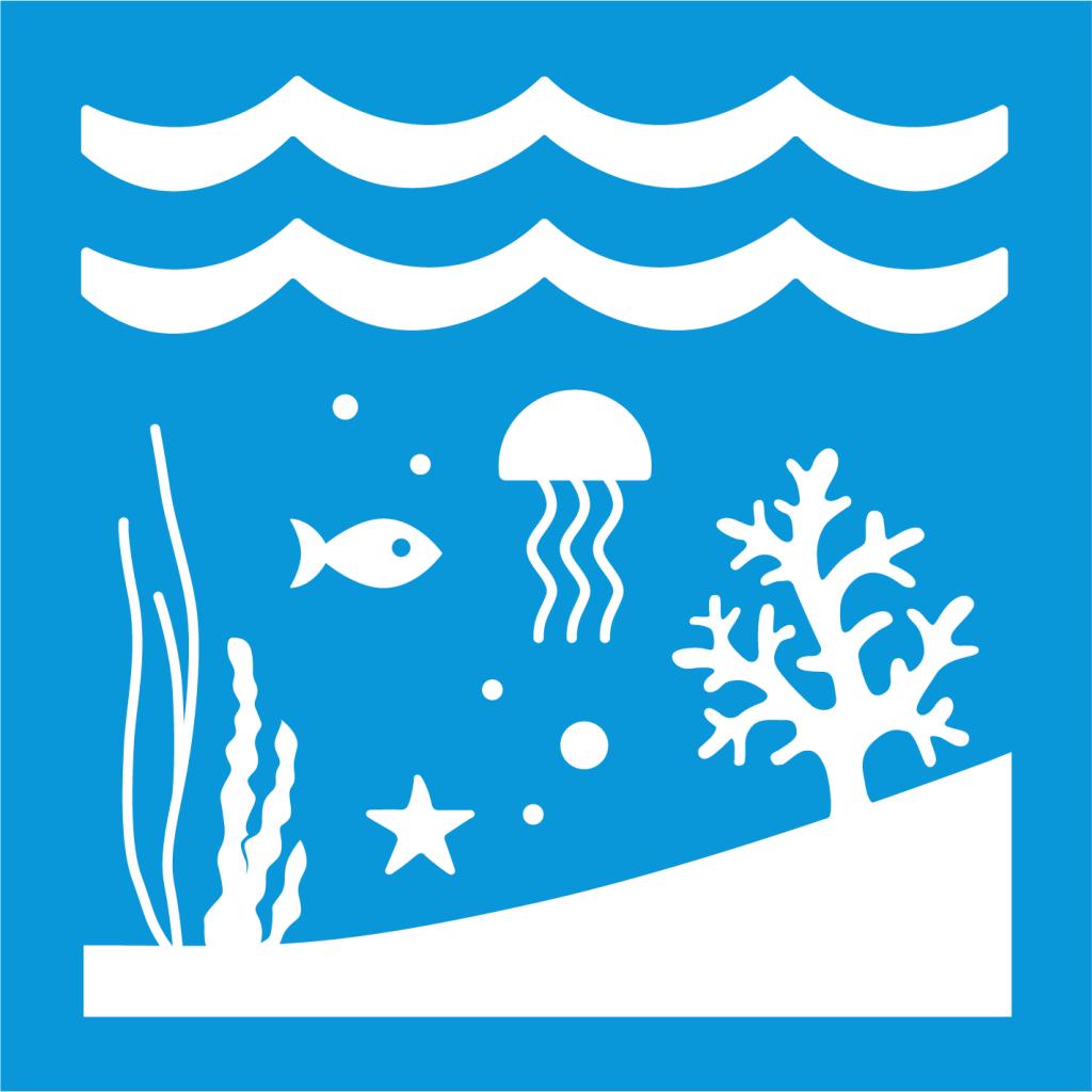 Ikon för delmål 14.5: Bevara kust- och havsområden