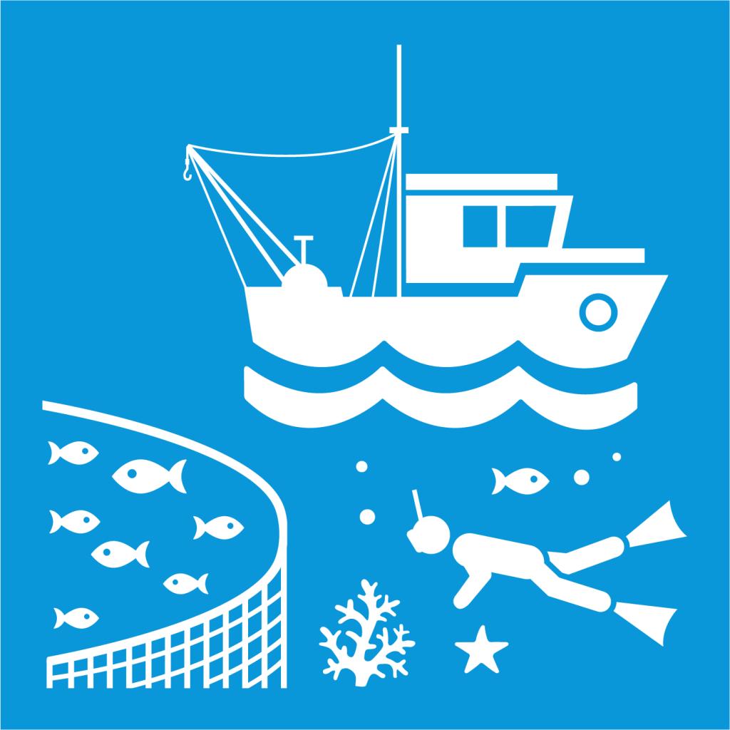 Ikon för delmål 14.7: Öka den ekonomiska nyttan av hållbar hantering av marina resurser