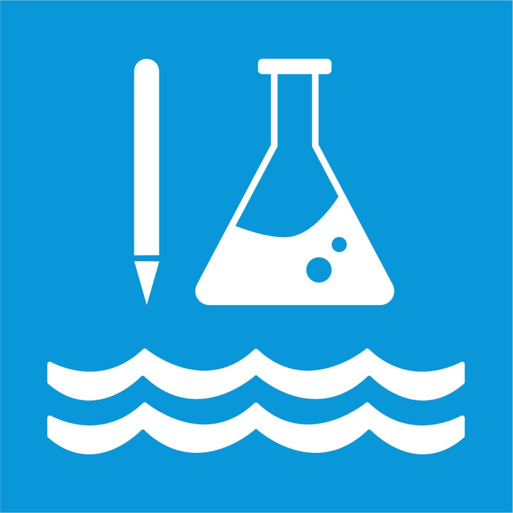 Ikon för delmål 14.A: Utöka vetenskaplig kunskap, forskning och teknik som bidrar till friskare hav