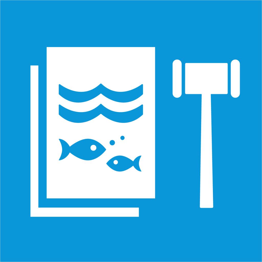 Ikon för delmål 14.C: Implementera och verkställ den internationella havsrättskonventionen