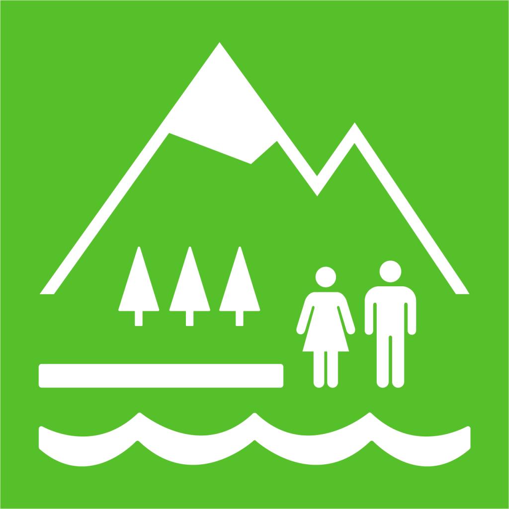 Ikon för delmål 15.1: Bevara, restaurera och säkerställ hållbart nyttjande av ekosystem på land och i sötvatten