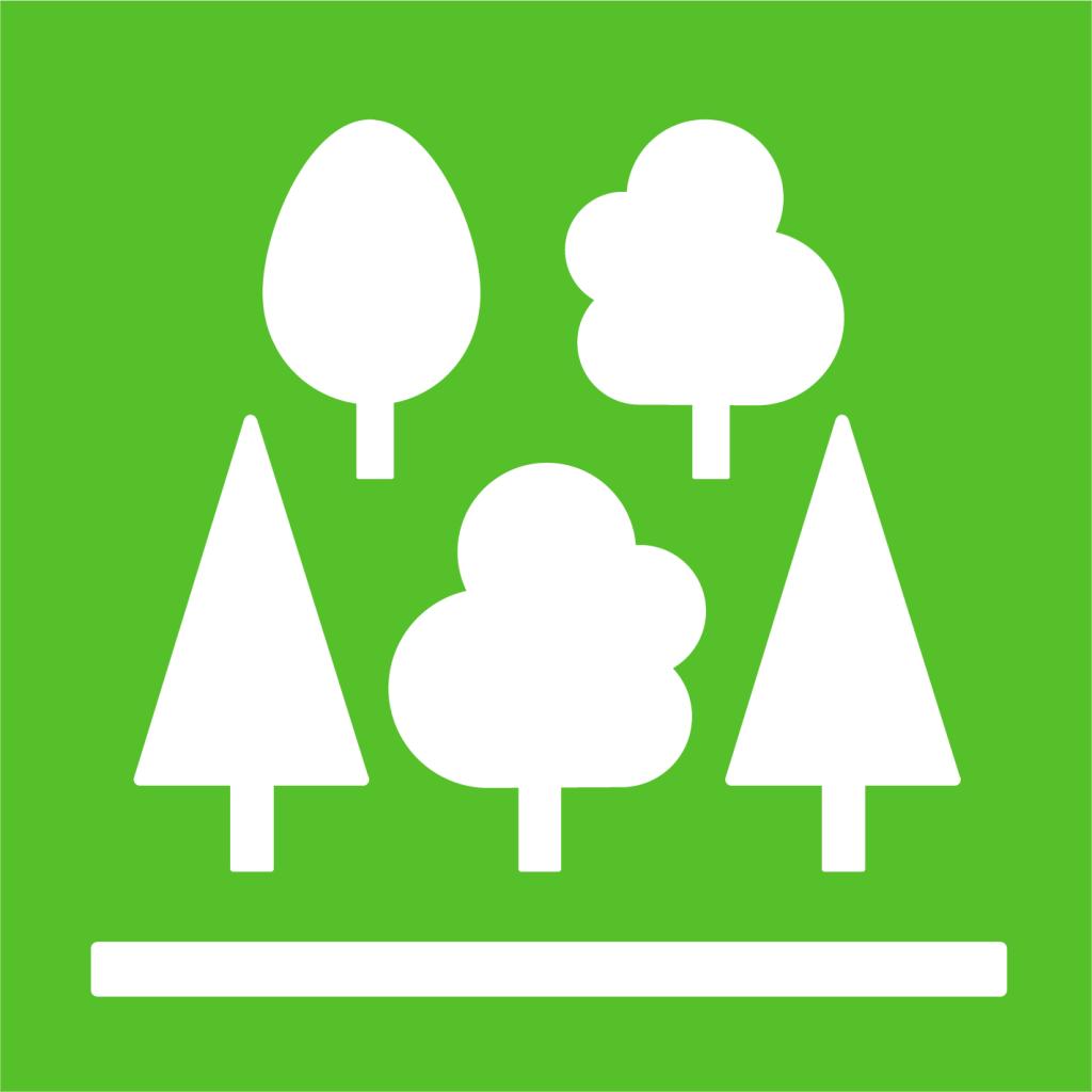 Ikon för delmål 15.2: Främja hållbart skogsbruk, stoppa avskogningen och återställ utarmade skogar