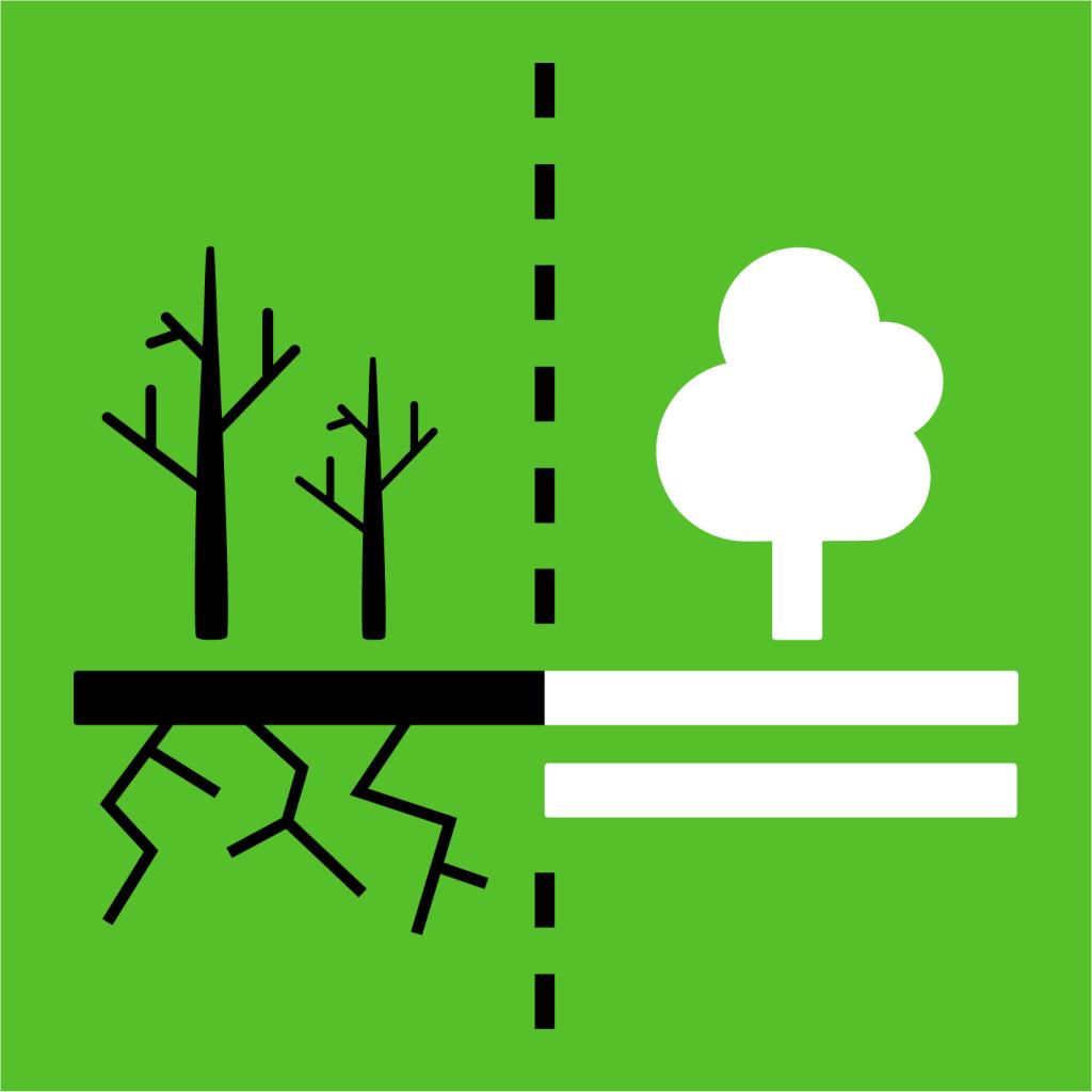 Ikon för delmål 15.3: Stoppa ökenspridning och återställ förstörd mark