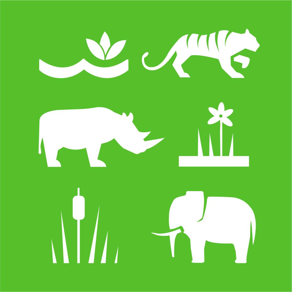 Ikon för delmål 15.C: Bekämpa tjuvjakt och illegal handel