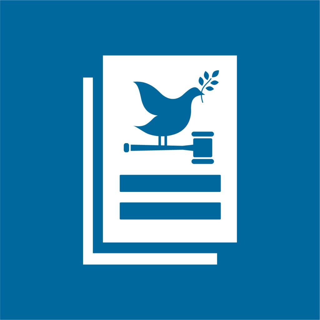 Ikon för delmål 16.10: Säkerställa allmän tillgång till information och skydda de grundläggande friheterna
