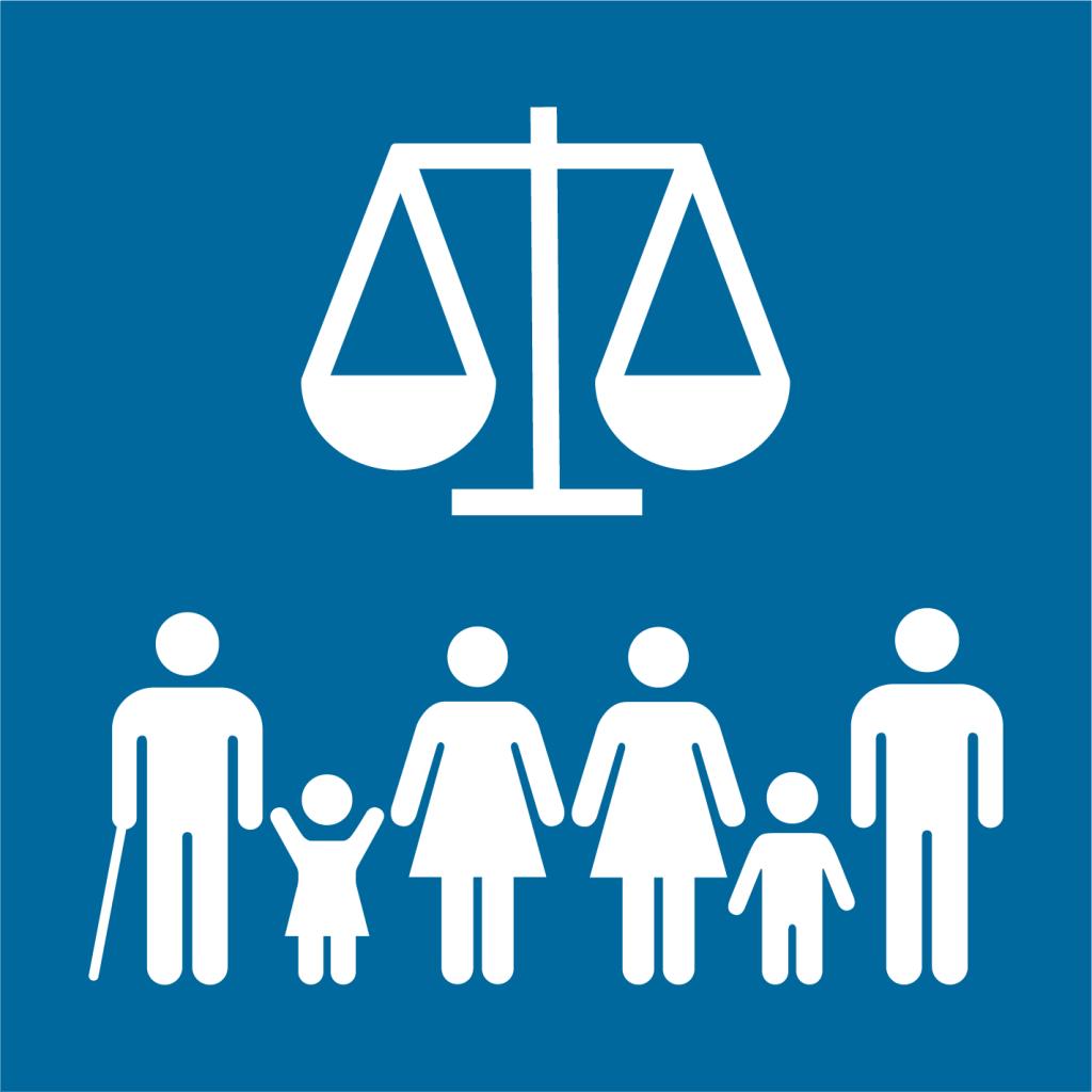 Ikon för delmål 16.3: Främja rättssäkerhet och säkerställ tillgång till rättvisa