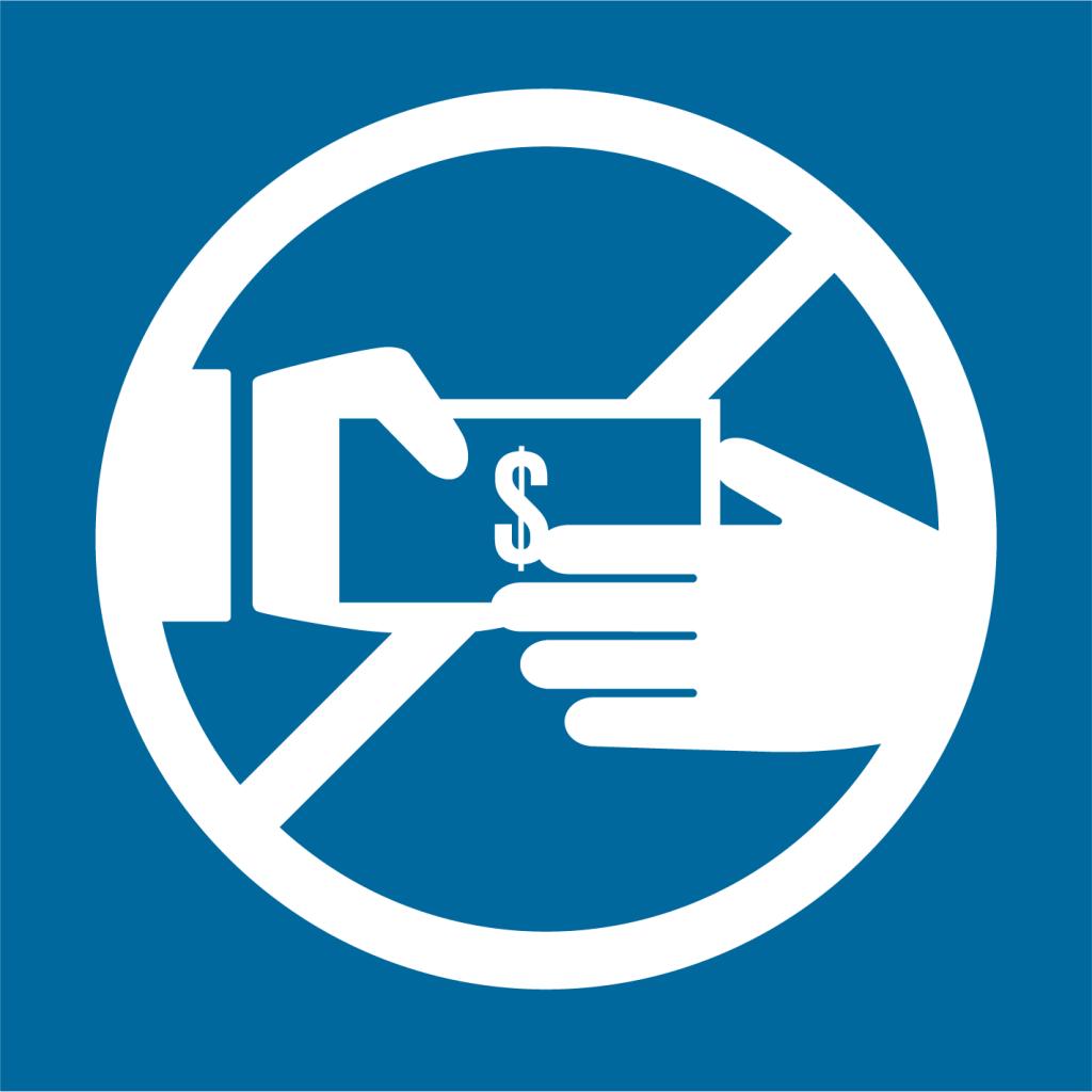Ikon för delmål 16.5: Bekämpa korruption och mutor