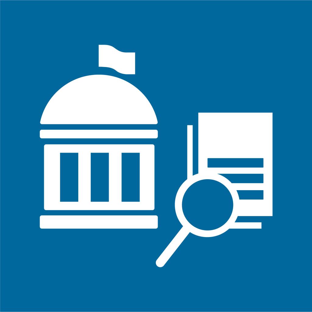 Ikon för delmål 16.6: Bygg effektiva, tillförlitliga och transparenta institutioner