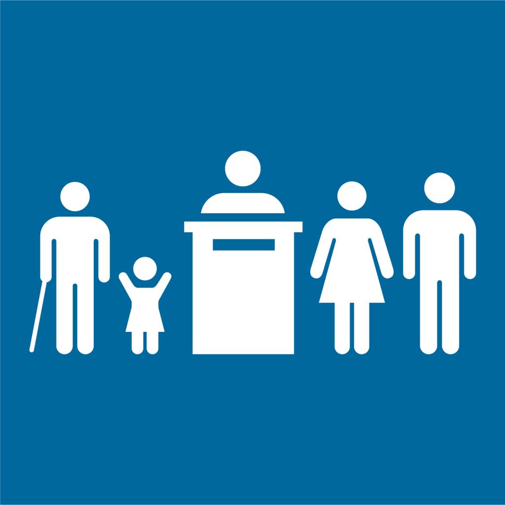 Ikon för delmål 16.7: Säkerställ ett lyhört, inkluderande och representativt beslutsfattande