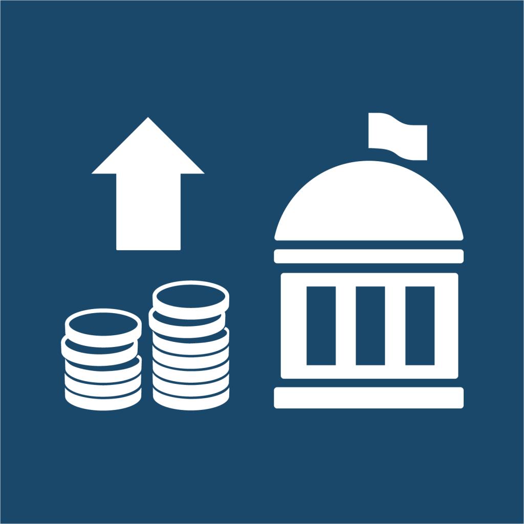 Ikon för delmål 17.1: Öka inhemsk kapacitet för skatte- och andra intäkter