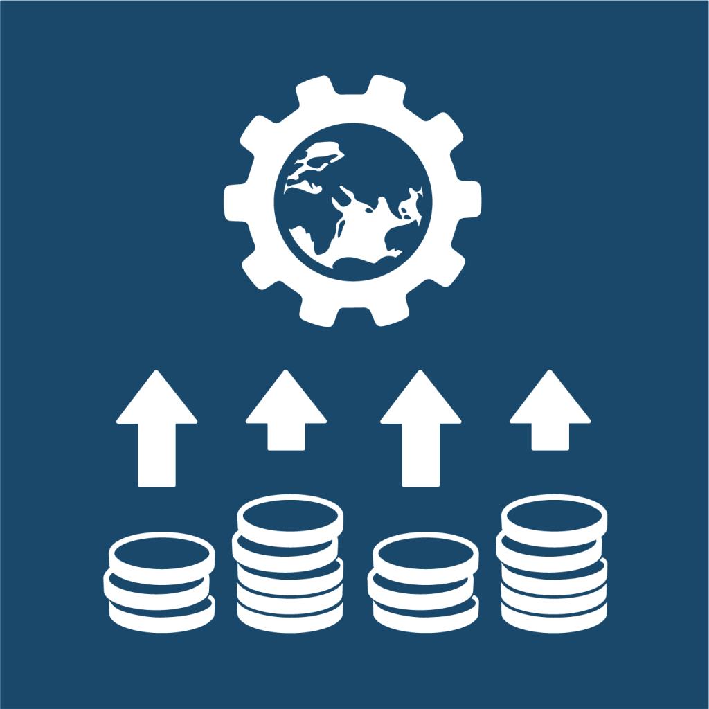 Ikon för delmål 17.3: Mobilisera finansiella resurser till utvecklingsländer