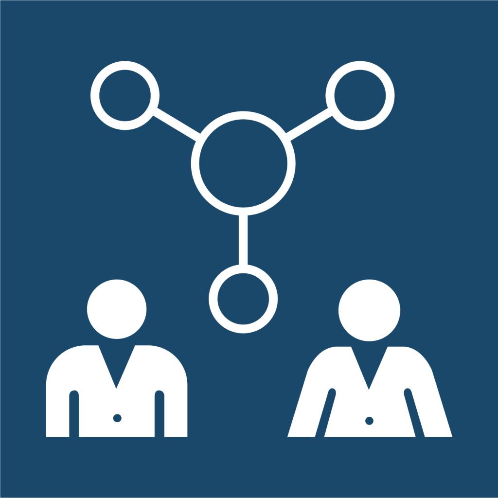 Ikon för delmål 17.6: Samarbeta och dela kunskap kring vetenskap, teknik och innovation