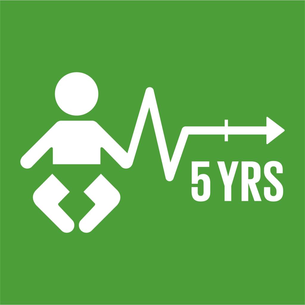 Ikon för delmål 3.2: Förhindra alla dödsfall som hade kunnat förebyggas bland barn under fem år