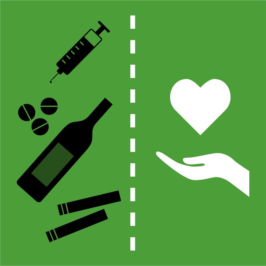 Ikon för delmål 3.5: Förebygg och behandla drogmissbruk