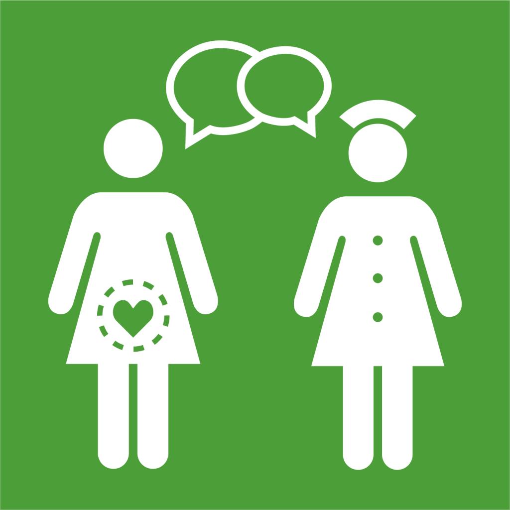 Ikon för delmål 3.7: Tillgängliggör reproduktiv hälsovård, familjeplanering och utbildning för alla
