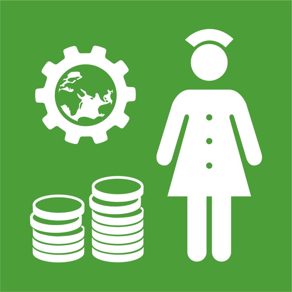 Ikon för delmål 3.C: Öka finansiering och personal till utvecklingsländers hälso- och sjukvård