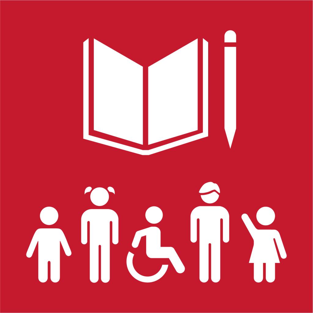 Ikon för delmål 4.5: Utrota diskriminering i utbildning