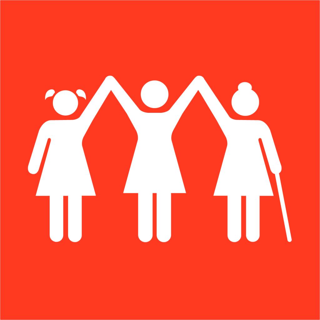 Ikon för delmål 5.1: Utrota diskriminering av kvinnor och flickor