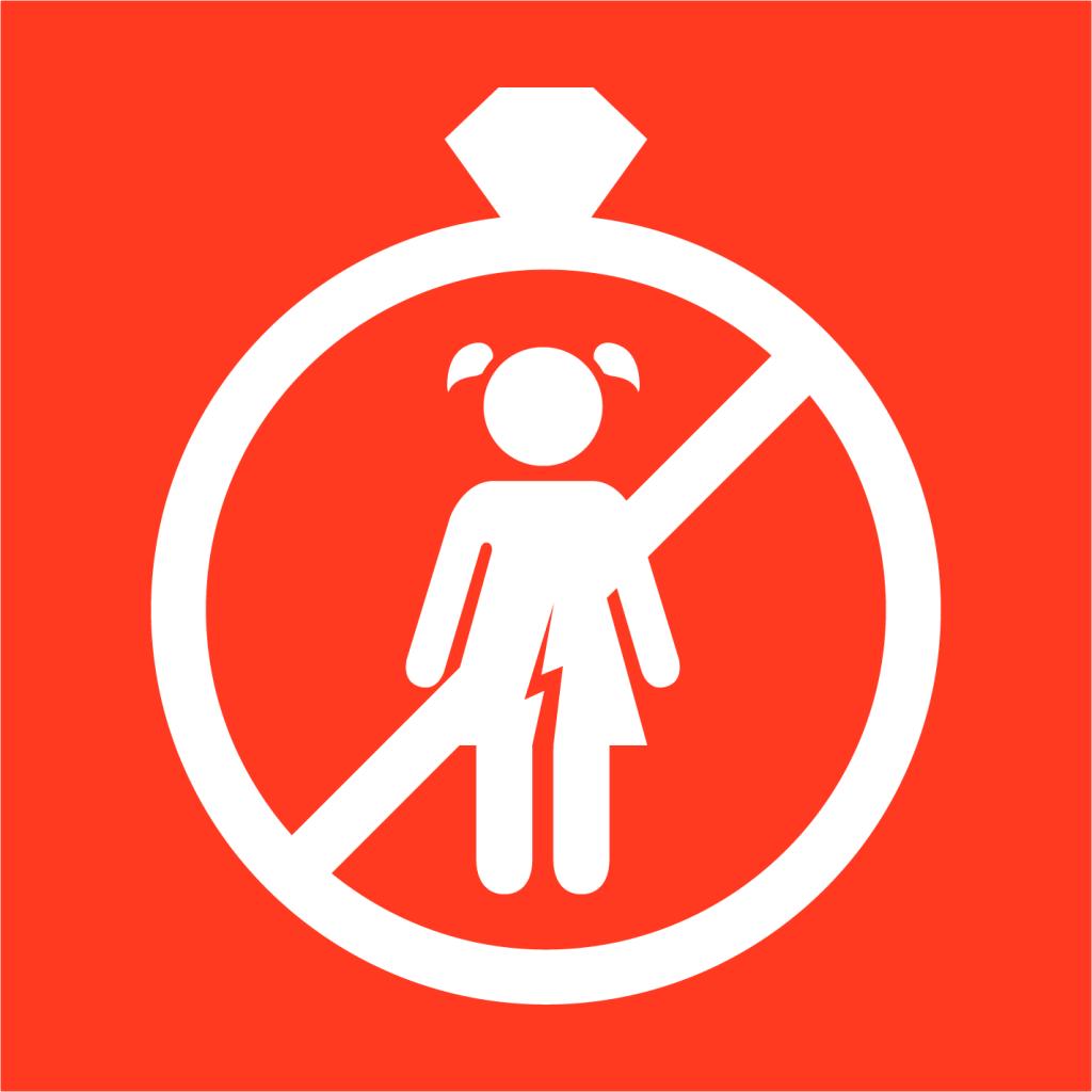 Ikon för delmål 5.3: Avskaffa tvångsäktenskap och könsstympning