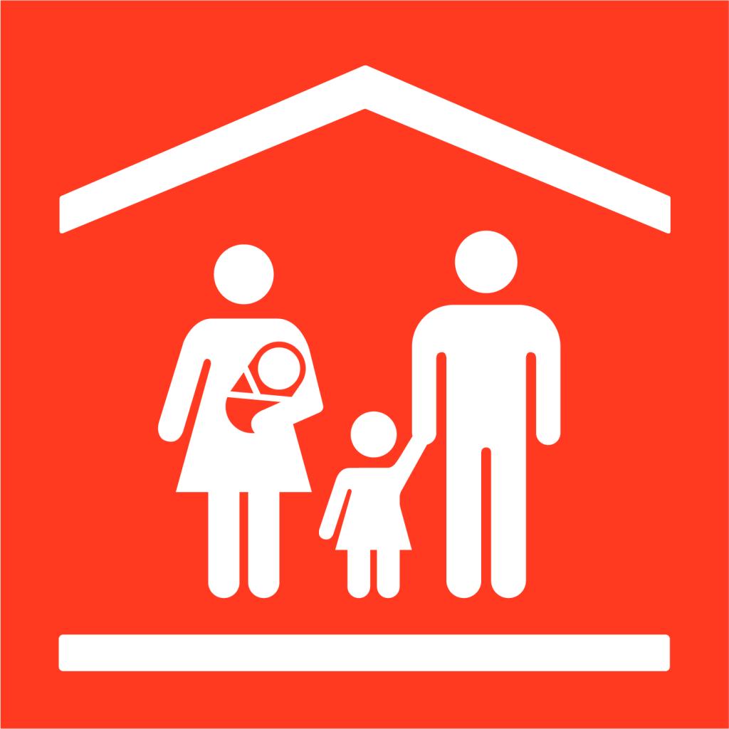 Ikon för delmål 5.4: Värdesätt obetalt omsorgsarbete och främja delat ansvar i hushållet