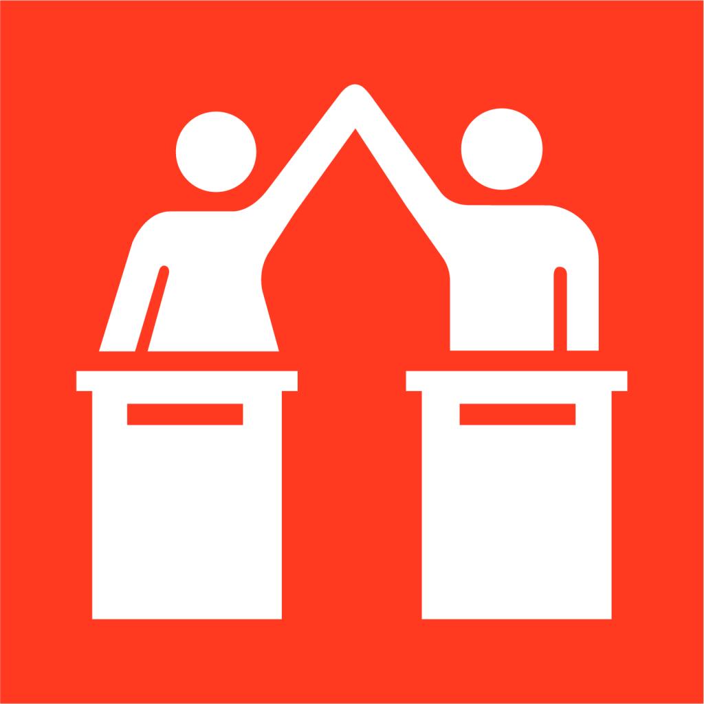 Ikon för delmål 5.5: Säkerställ fullt deltagande för kvinnor i ledarskap och beslutsfattande