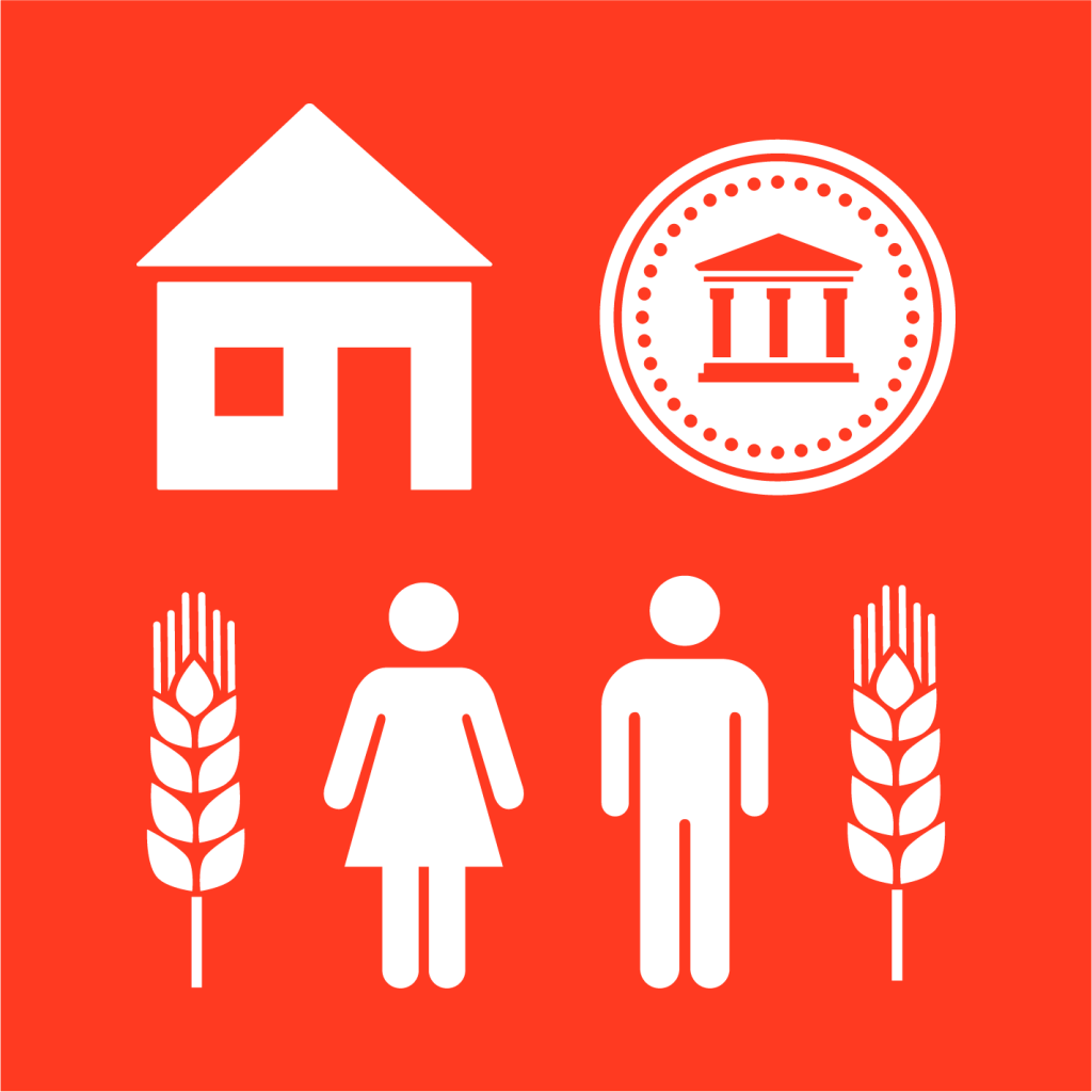 Ikon för delmål 5.A: Lika rätt till ekonomiska resurser och ägande samt tillgång till finansiella tjänster