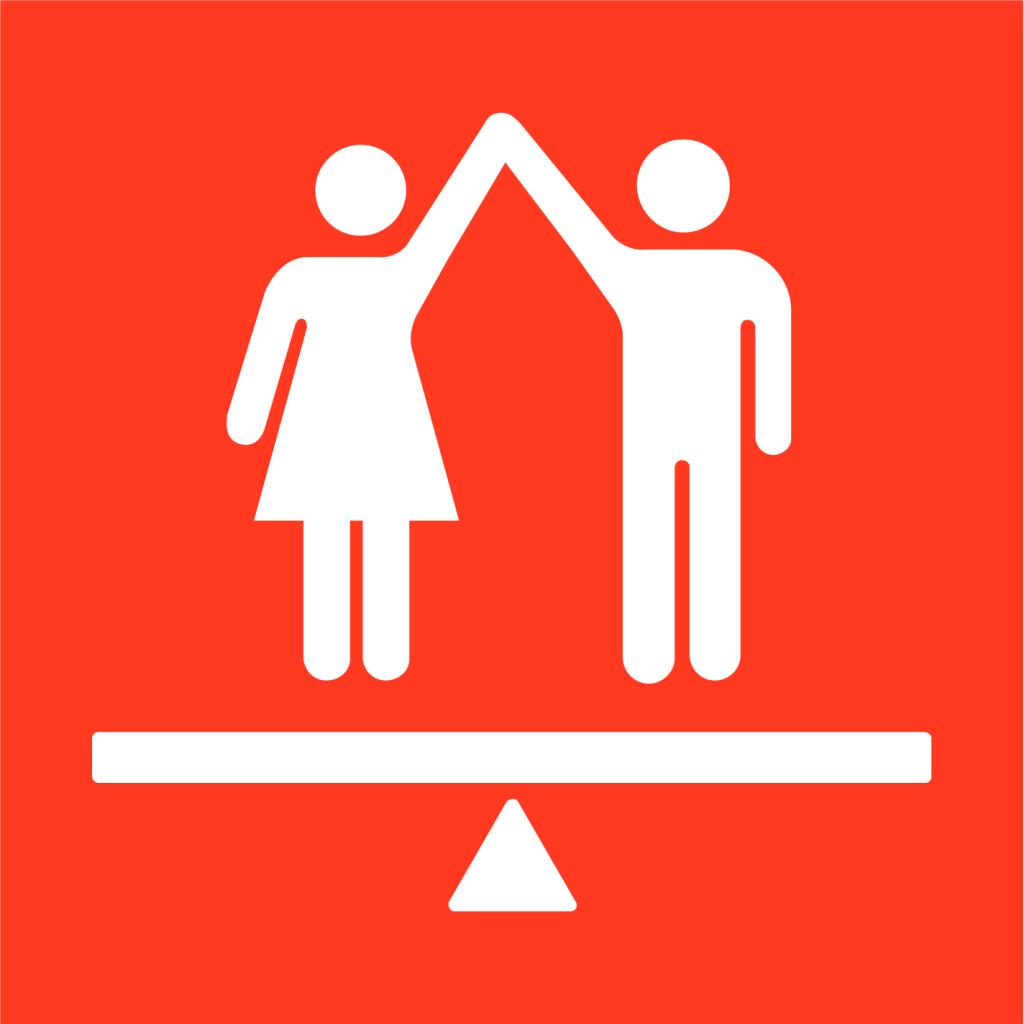 Ikon för delmål 5.C: Skapa lagar och handlingsplaner för jämställdhet