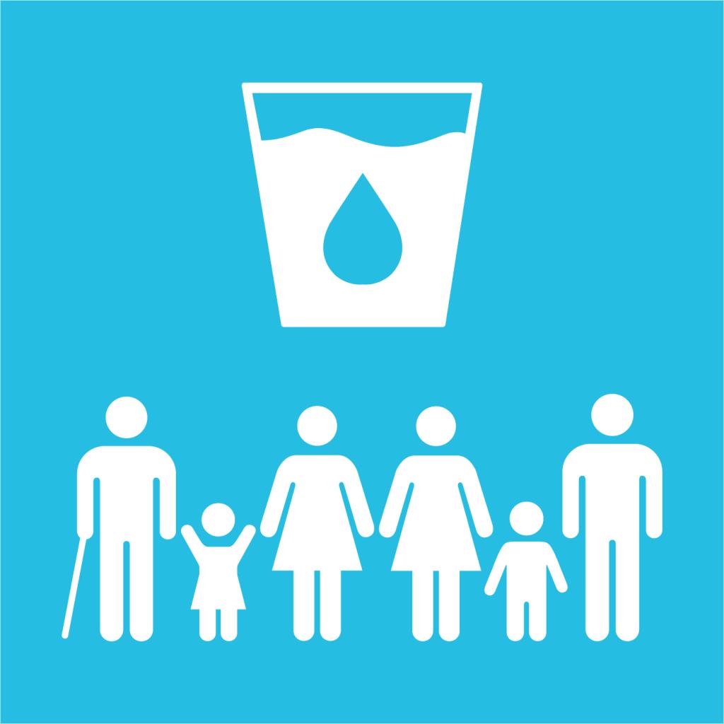Ikon för delmål 6.1: Säkert dricksvatten för alla