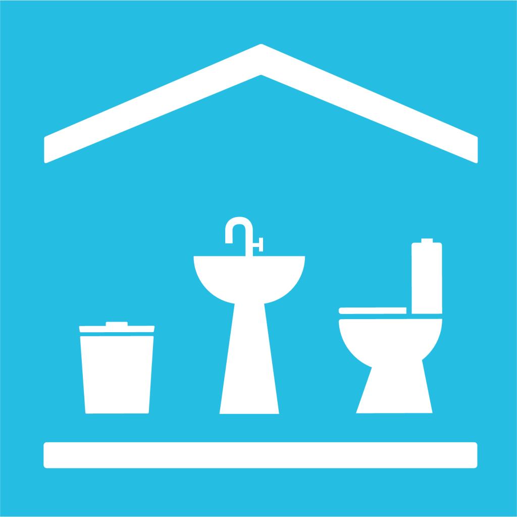 Ikon för delmål 6.2: Säkra tillgången till sanitet, hygien och toaletter för alla