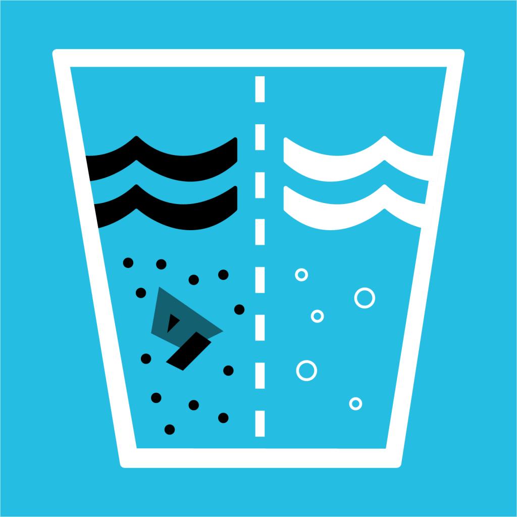 Ikon för delmål 6.3: Förbättra vattenkvalitet och avloppsrening samt öka återanvändning