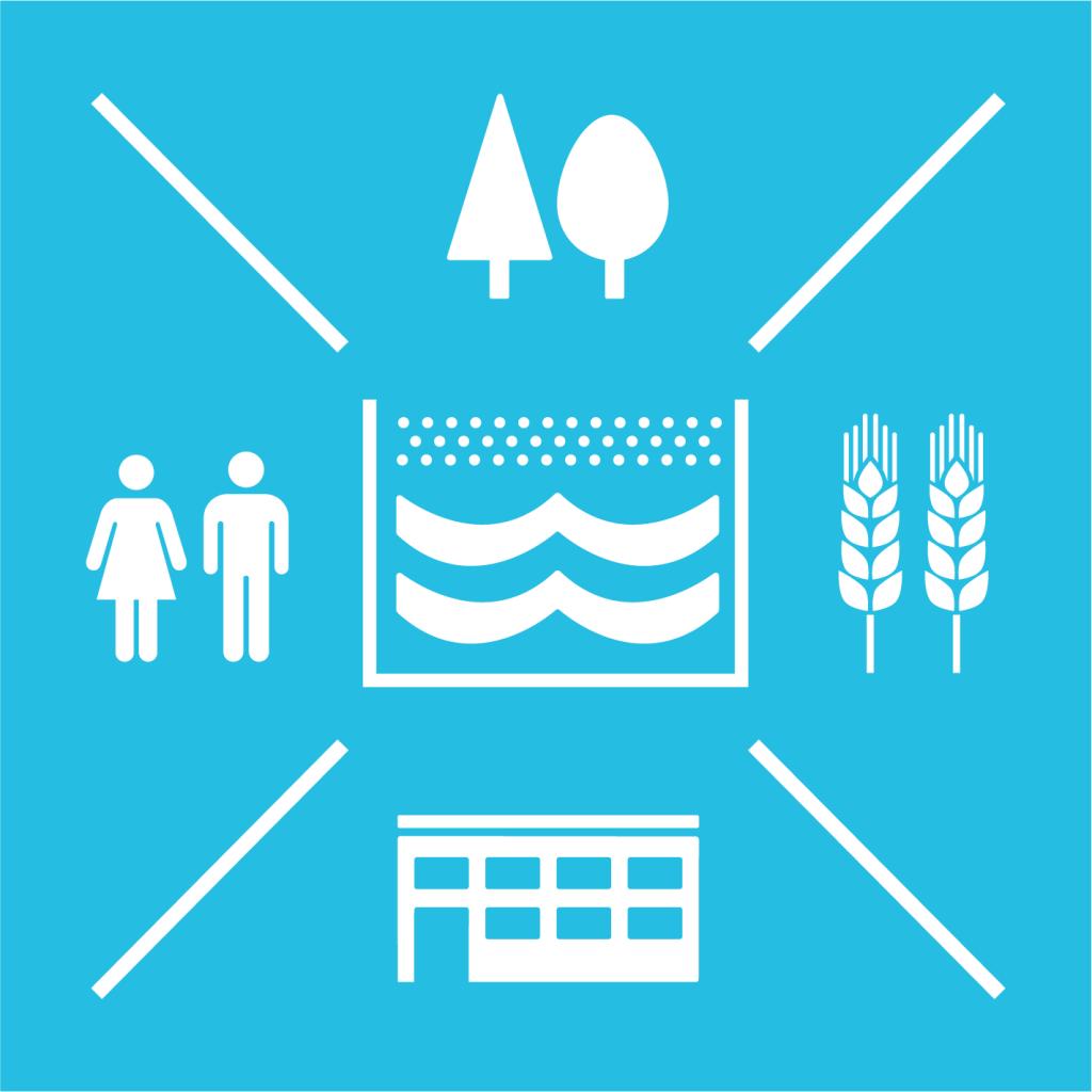 Ikon för delmål 6.5: Integrerad förvaltning av vattenresurser