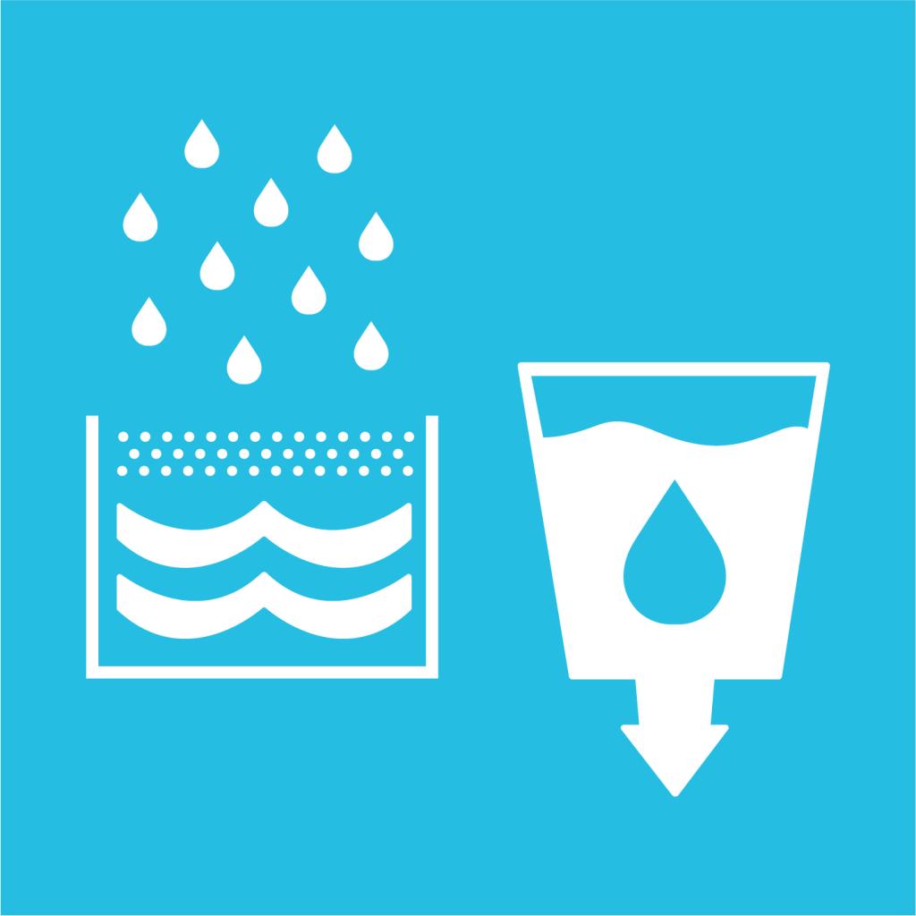 Ikon för delmål 6.A: Utöka det vatten- och sanitetsrelaterade stödet till utvecklingsländer