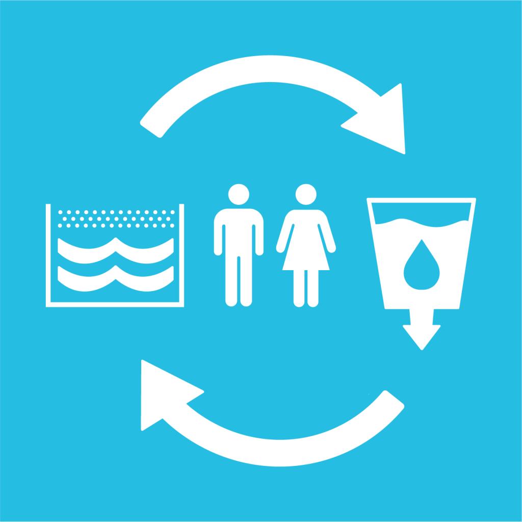 Ikon för delmål 6.B: Stöd lokalt engagemang i vatten- och sanitetshantering