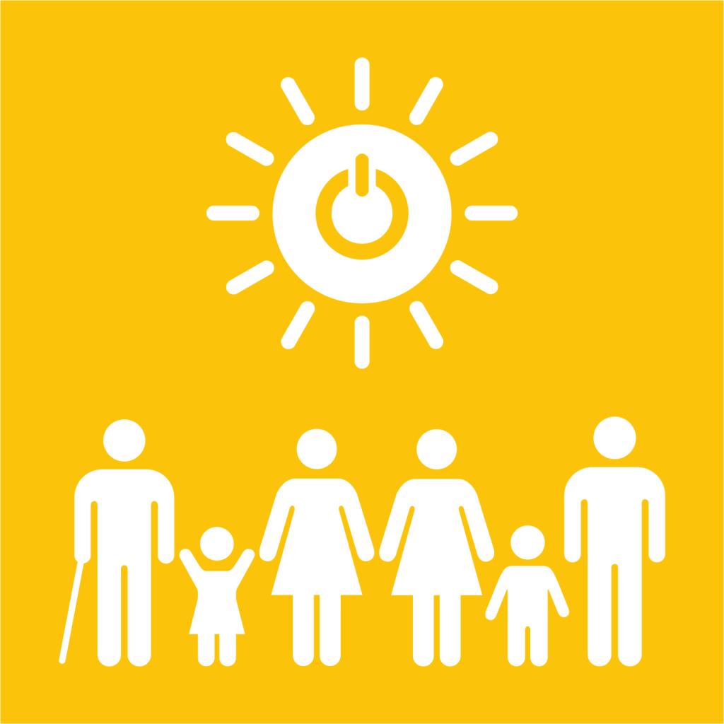 Ikon för delmål 7.1: Tillgång till modern energi för alla