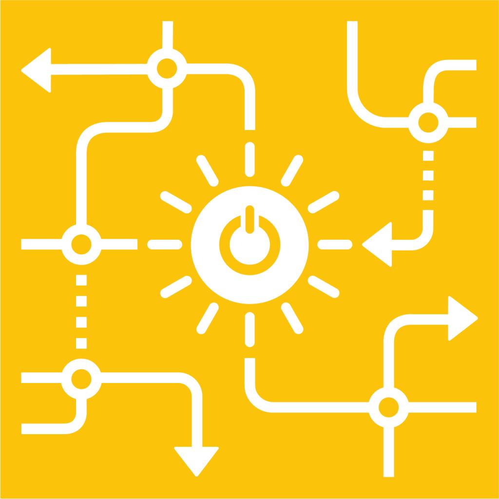 Ikon för delmål 7.A: Tillgängliggör forskning och teknik samt investera i ren energi